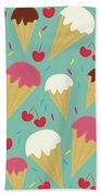 Ice Cream Cones Beach Towel