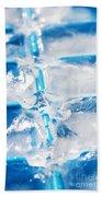 Ice Cubes Beach Towel by Carlos Caetano