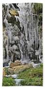 Ice Droplets  Beach Towel