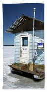 Ice Fishing Shack Beach Towel