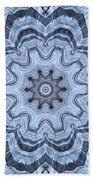 Ice Patterns Snowflake Beach Towel