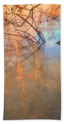 Ice Reflections 2 Beach Towel