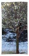 Ice Tree Beach Towel