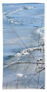 Ice Waves Beach Towel