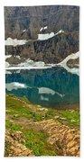 Iceberg Lake Glacier Beach Towel