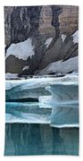 Iceberg Lake Icebergs Beach Towel
