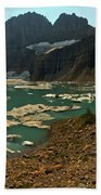 Icebergs Below Grinnell Glacier Beach Towel