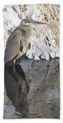 Iced Heron Beach Towel