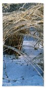 Iced Ornamental Grass Beach Towel