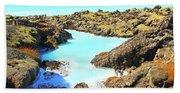 Iceland Blue Lagoon Healing Waters Beach Sheet