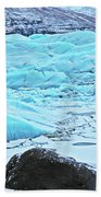 Iceland Glacier Bay Glacier Mountains Iceland 2 322018 1789.jpg Beach Towel