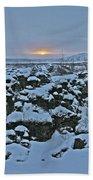 Iceland Lava Field Sunrise Mountains Clouds Iceland 2 2112018 1024jpg Beach Towel