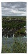 Icelandic Waterfall Beach Towel
