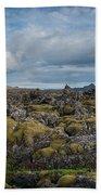 Icelands Mossy Volcanic Rock Beach Towel