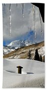 Icicles In East Vail Beach Towel