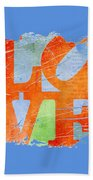 Iconic Love - Grunge Beach Towel