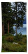 Iconic Maligne Lake And Boat House II Beach Towel