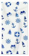 Iconic Nautics Beach Towel