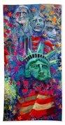 Icons Of Freedom Beach Towel