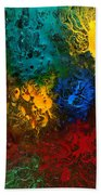 Icy Abstract 10 Beach Towel by Sami Tiainen