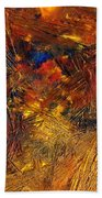 Icy Abstract 11 Beach Towel by Sami Tiainen