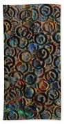 Icy Abstract 12 Beach Towel by Sami Tiainen