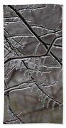 Icy Branches Beach Towel