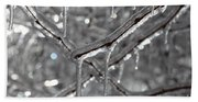 Icy Glitters Beach Towel