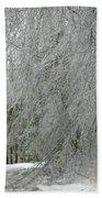Icy Street Trees Beach Towel