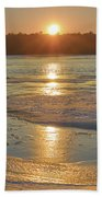 Icy Sunset Beach Towel by Beth Sawickie