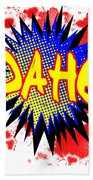 Idaho Comic Exclamation Beach Towel