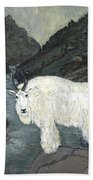 Idaho Mountain Goat Beach Towel