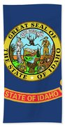 Idaho State Flag Beach Towel