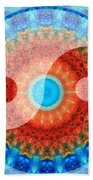 Ideal Balance Yin And Yang By Sharon Cummings Beach Towel
