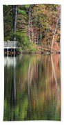 Idyllic Autumn Reflections Beach Towel