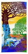 If A Tree Falls In Sicily Color 2 Beach Towel