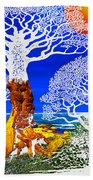 If A Tree Falls In Sicily White Beach Towel