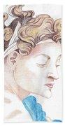 Ignudo Sistine Chappel Michelangelo Beach Towel
