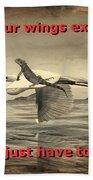 Iguana With Wings Beach Towel
