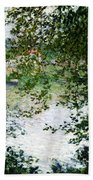 Ile De La Grande Jatte Through The Trees Beach Sheet