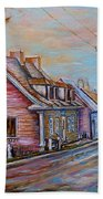 Iles D'orleans Quebec Village Scene Beach Towel