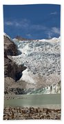 Illampu Glacier Lake Or Laguna Glacial Beach Towel