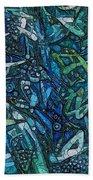 Illuminated Blue Beach Towel