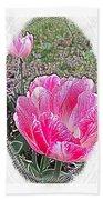 Illustrated Rose Vignette Beach Towel