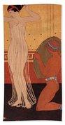 Illustration From Les Chansons De Bilitis Beach Towel