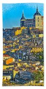 Image Of Portugal From The Road Beach Towel
