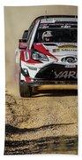 imagejunky_KB - RallyRACC WRC Spain - Esapekka Lappi / Janne Ferm Beach Towel