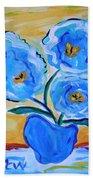 Imagine In Blue Beach Towel