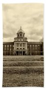 Immaculata University In Black And White Beach Towel