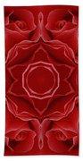 Imperial Red Rose Mandala Beach Towel